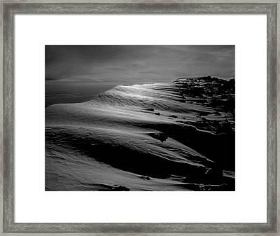 T-213312 Windblown Ice On Humphreys Peak Framed Print