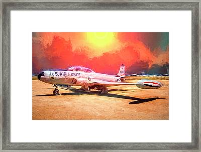 Framed Print featuring the photograph T-33 In The Desert by Steve Benefiel