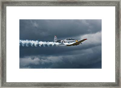 T-6 Texan Smoke On Framed Print