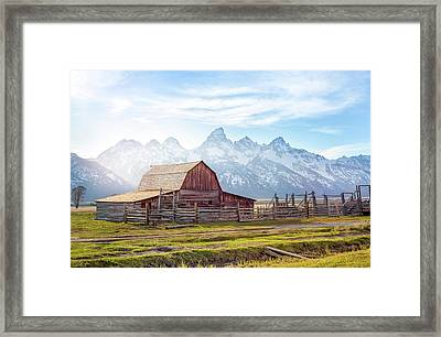 T. A. Moulton Barn // Grand Teton National Park  Framed Print