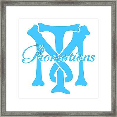 Framed Print featuring the drawing T And M Promotions Logo by Nicholas Grunas