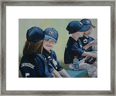 T Ball Friends Framed Print by Charlotte Yealey