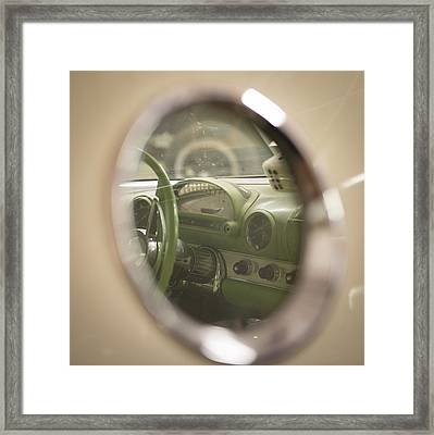T Bird Dashboard Framed Print by Paul Freidlund