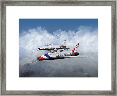 T Bird Two And A Regular Hun Framed Print