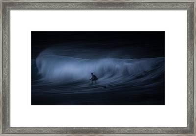 T E N S E Framed Print by Toby Harriman