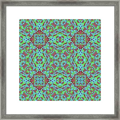 T H U - Multi Pattern Framed Print