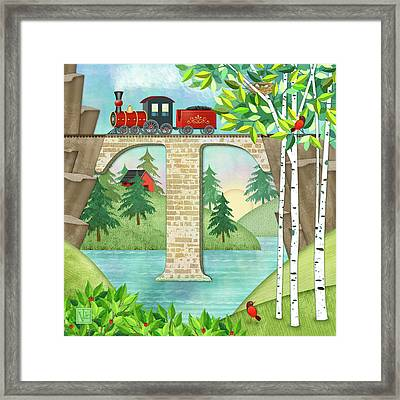 T Is For Train And Train Trestle Framed Print