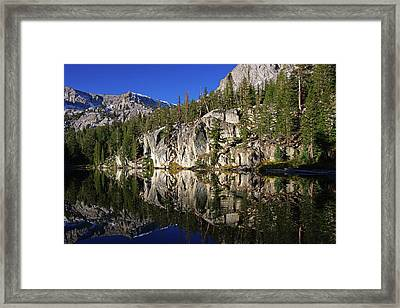T J Lake Reflections Framed Print
