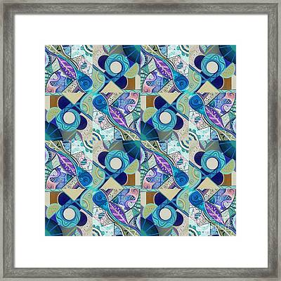 T J O D Tile Variation 4 Inverted Framed Print by Helena Tiainen