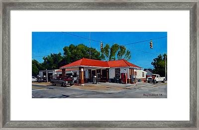 T. R. Lee Service Station Framed Print by Doug Strickland