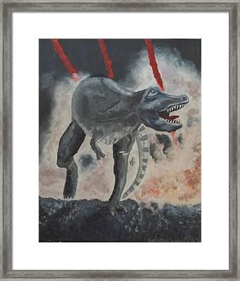 T-rex Framed Print by Anthony LaRocca