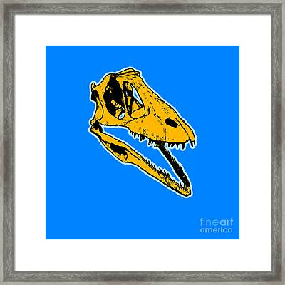 T-rex Graphic Framed Print by Pixel  Chimp