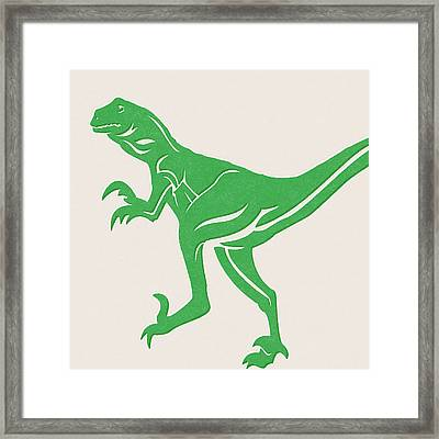 T-rex Framed Print by Linda Woods