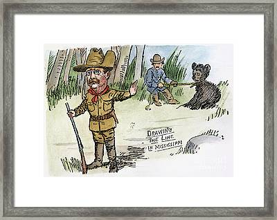 T. Roosevelt: Teddy Bear Framed Print
