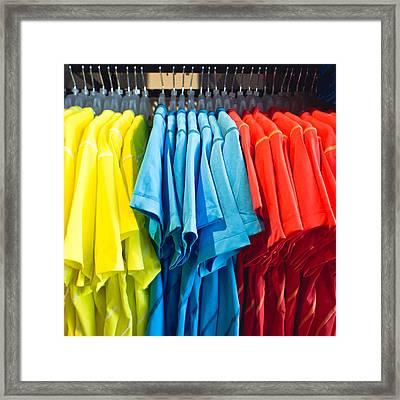 T Shirts Framed Print by Tom Gowanlock