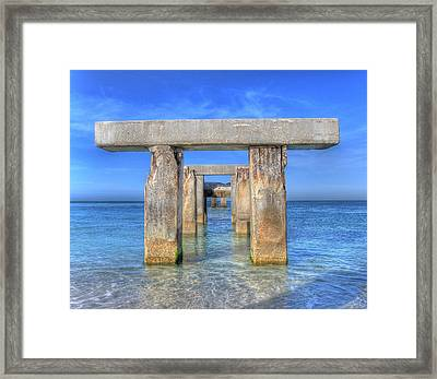 T Time Framed Print