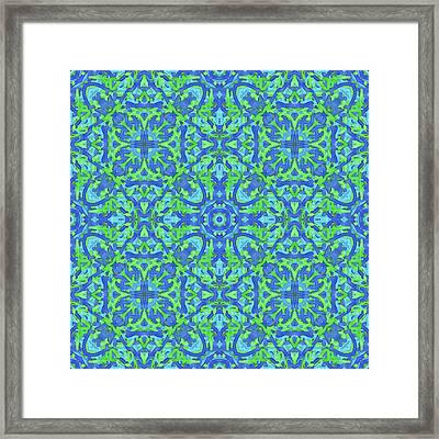 T U E - Multi Pattern Framed Print