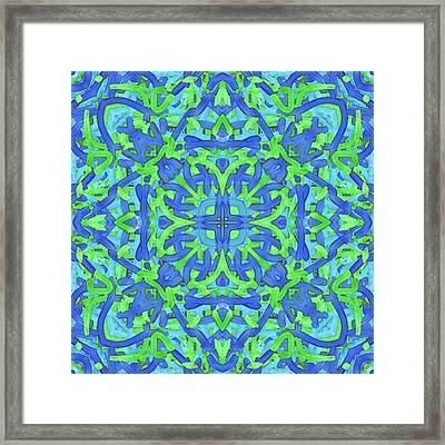T U E - Pattern Framed Print