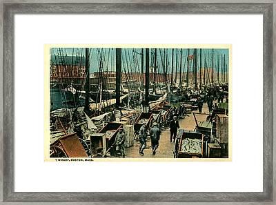 T Wharf-boston,ma Framed Print by Robert Nickologianis