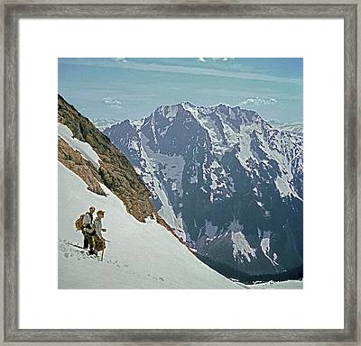 T04402 Beckey And Hieb After Forbidden Peak 1st Ascent Framed Print