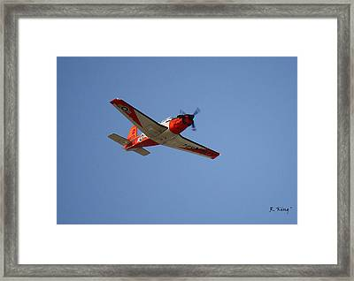 T34 Mentor Trainer Flying Framed Print