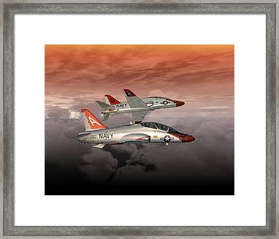 T45 Kiss-off Framed Print