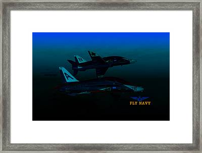 T45 Kiss-off Wt Wings Framed Print