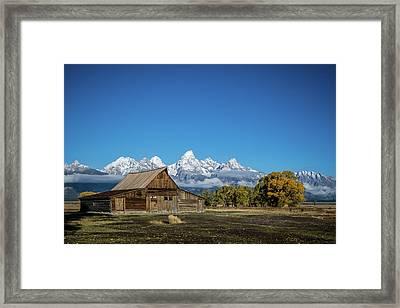 T.a. Moulton Barn Framed Print by Mary Hone