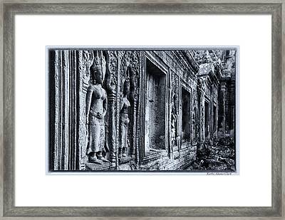 Framed Print featuring the photograph Ta Phrom Cambodia by Kathy Adams Clark