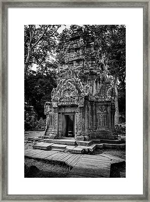 Ta Prohm Temple Tower Framed Print
