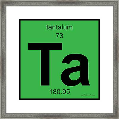 Ta Tantalum - Periodic Table Of Elements Framed Print by Joel Anderson