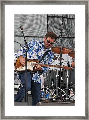 Tab Benoit Plays His 1972 Fender Telecaster Thinline Guitar Framed Print