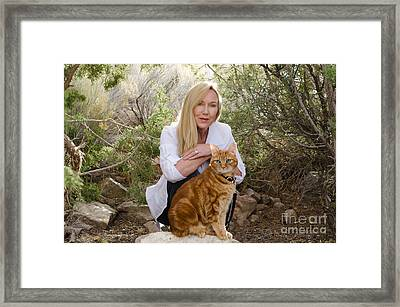 Tabasco And Molly On Meditation Rock Framed Print