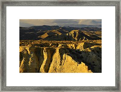 Tabernas Desert Spain Framed Print
