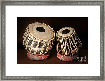 Tabla Musical Instrument Framed Print by Charuhas Images
