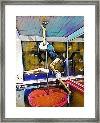 Table Dance  Framed Print by Oscar Benero Lopez