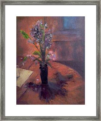 Table Flowers #1 Framed Print by Brian Kardell