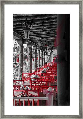 Table For Four Framed Print by Mark Dunton