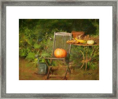 Table For One Framed Print by Colleen Taylor