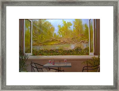 Wine And Shine Framed Print