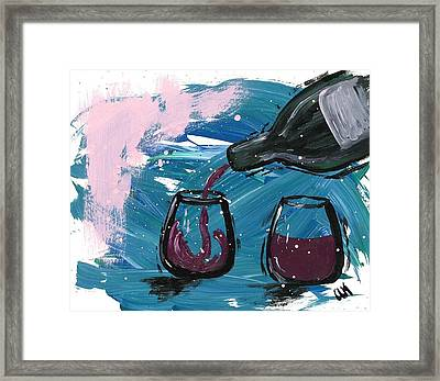 Table For Two Framed Print by Alyson Appleton
