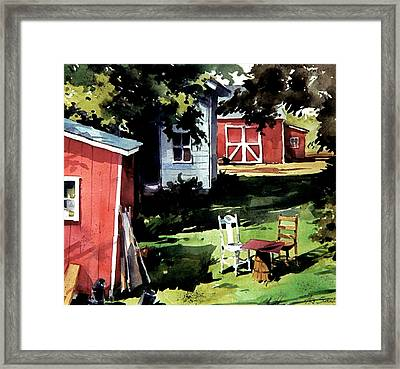Table For Two Framed Print by Art Scholz