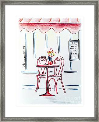 Table For Two Framed Print by Barbara Chase