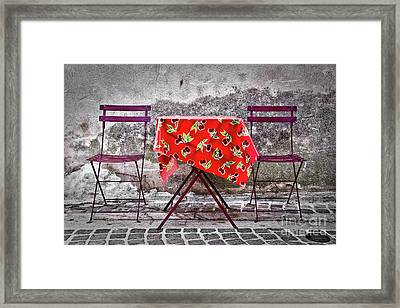Table For Two Framed Print by Delphimages Photo Creations