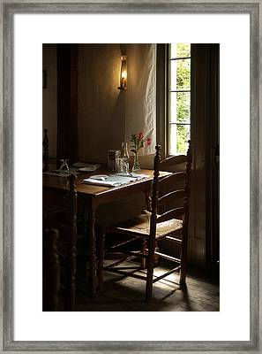 Table For Two Framed Print by Lee Fortier