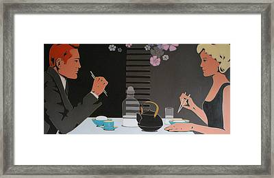 Table For Two Framed Print by Varvara Stylidou