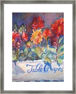 Table Grapes Framed Print by Joyce Kanyuk