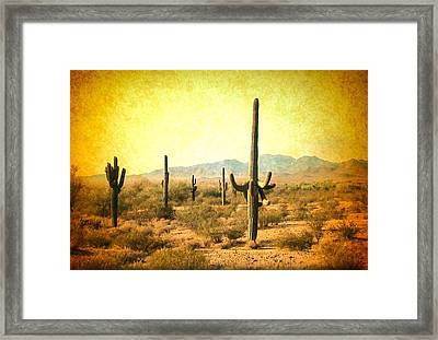 Table Moumtain Vintage Western Framed Print