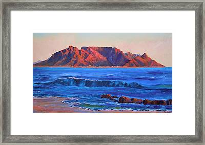 Table Mountain Aglow Framed Print by Anastasia Savage Ealy