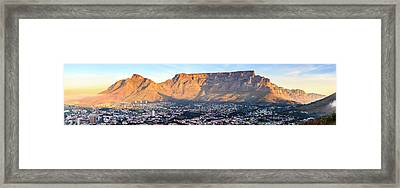 Framed Print featuring the photograph Table Mountain by Alexey Stiop